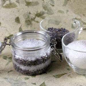domowa sól do kąpieli z lawenda