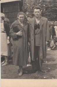 Pani Danuta z mężem 1960 rok