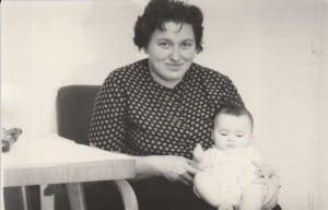 Pani Danuta z synem 1957 rok