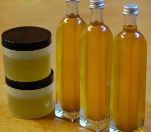 olej żywokostowy i nalewka z żywokostu