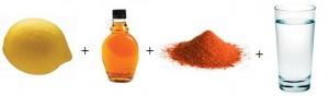 oczyszczanie jelita grubego syrop klonowy, cytryna, pieprz cayenne