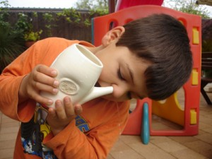 plukanie nosa alergia