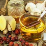rosół, pierzyna sok malinowy na przeziębienie