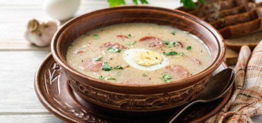 Żurek tradycyjny na zakwasie - dania kuchni staropolskiej
