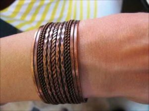 bransoletka z miedzi leczy, miedziana biżuteria